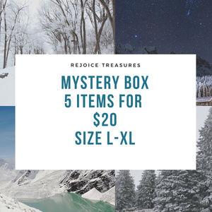 Mystery Boxes 5 Items Sizes L - XL